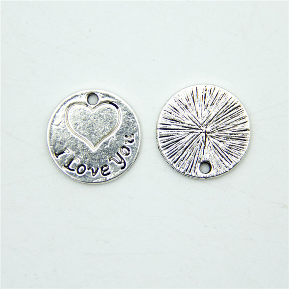 20 units Pendant antique sliver I love you Pendants Jewelry Findings & Components D-3-305