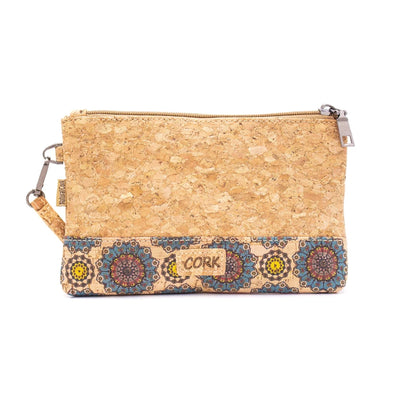 Natural cork with pattern envelope purse BAG-621-A
