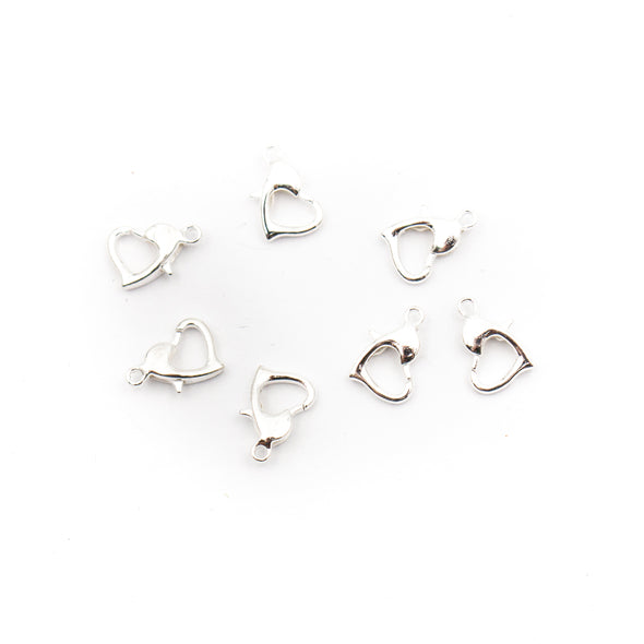 20Pcs heart shaped lobster hook for bracelet or necklace making, jewelry supplies jewelry finding D-6-231