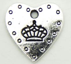 10 units Pendant antique silver Crown and love Pendants Jewelry Findings & Components 15x19mm D-3-303