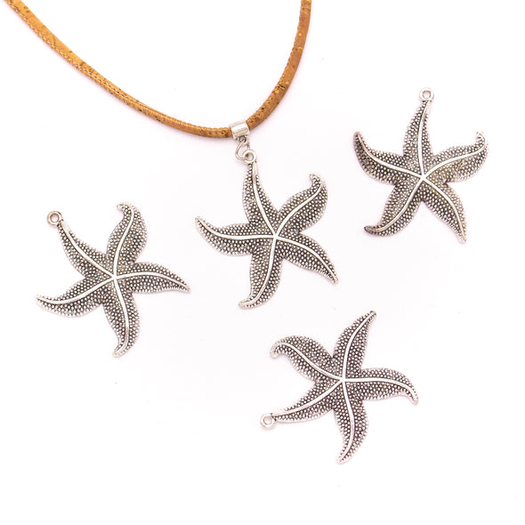 5 units 41x50mm Pendant antique silver Star Fish jewelry pendant Jewelry Findings & Components D-3-422