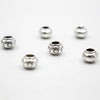 30 Pcs for 3mm round leather Antique Silver Beads with Peaks jewelry supplies jewelry finding D-5-3-108
