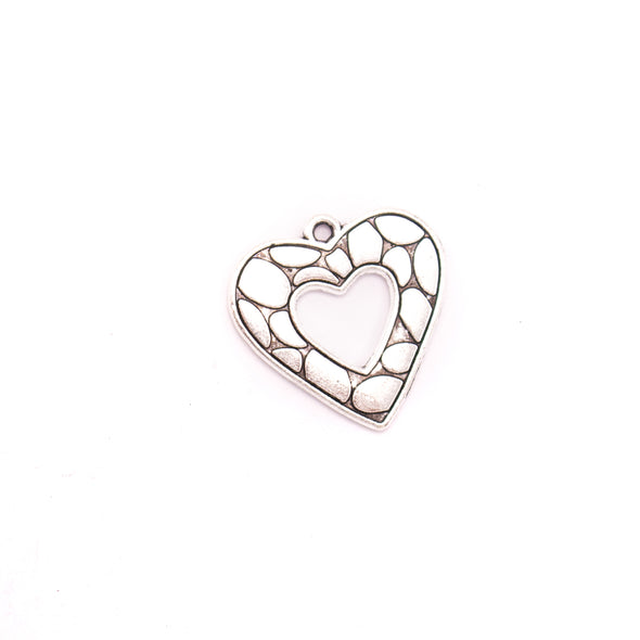 10 units 23x23mm Pendant antique silver Heart jewelry pendant Jewelry Findings & Components D-3-407