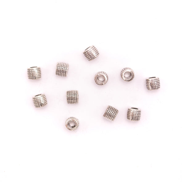 20PCS For 5mm leather antique silver zamak 5mm round beads Jewelry supply Findings Components- D-5-5-158