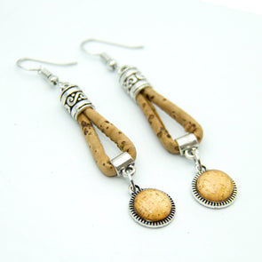 Cork pattern Patch cork earrings ER-067