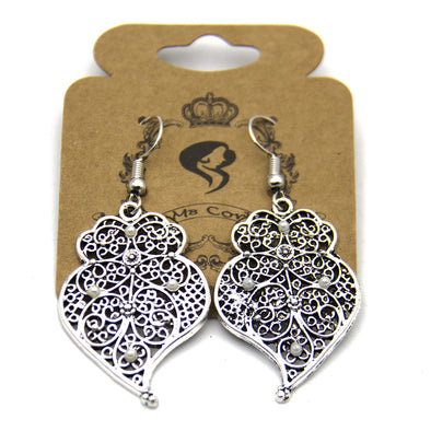 Portuguese Viana heart earrings women earrings handmade lady original dangle earrings ER-048