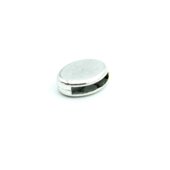20pcs Oval flat slider for 5mm flat cord D-1-5-43