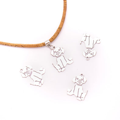 10 units 20x26mm Pendant antique silver Dog jewelry pendant Jewelry Findings & Components D-3-425