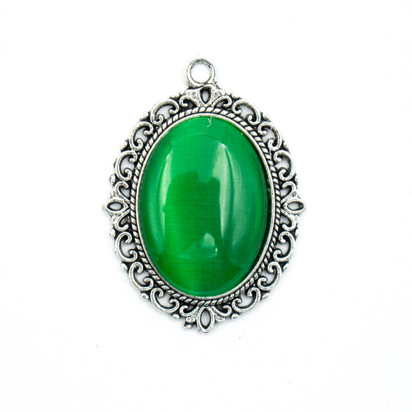 3pcs Green, White or Black Zamak pendant D-3-241