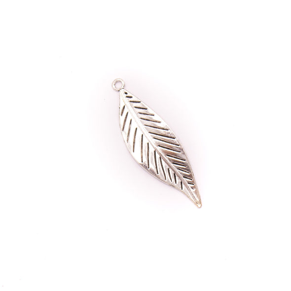 5 units 73x21mm Pendant antique silver Feather jewelry pendant Jewelry Findings & Components D-3-410