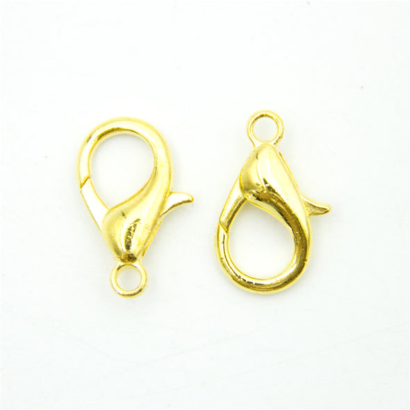 10pcs 19x11MM gold Lobster Clasps silver Clasps Jewelry Clasps Necklace Clasps Bracelet Clasps sliver Findings D-6-191