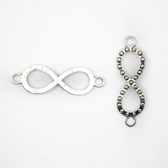 5 units antique silver infinite pendant for bracelet charms jewelry finding suppliers D-3-374