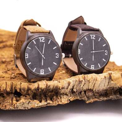 Natural and brown cork strap watch  WA-120