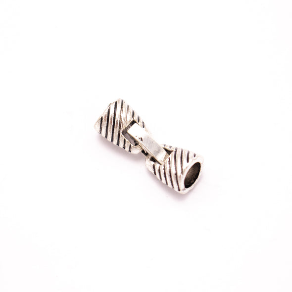 10 Units For 5mm leather clasp, for 5mm round antique silver snap clasp jewelry finding D-6-238
