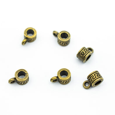 20pcs bronze zamak slider for 3mm cord D-5-3-49