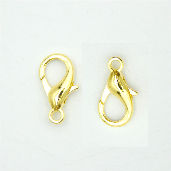 20pcs 15x8MM gold Lobster Clasps silver Clasps Jewelry Clasps Necklace Clasps Bracelet Clasps silver Findings D-6-192