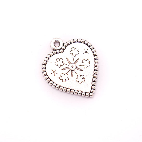 10 units 23x27mm Pendant antique silver Heart jewelry pendant Jewelry Findings & Components D-3-426