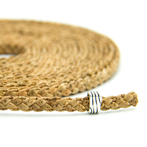 8mm Braided flat cork cord Cor-315