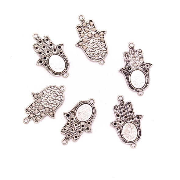 5Pcs Antique Silver 5pcs Hand of God pendant jewelry supplies jewelry finding D-3-434