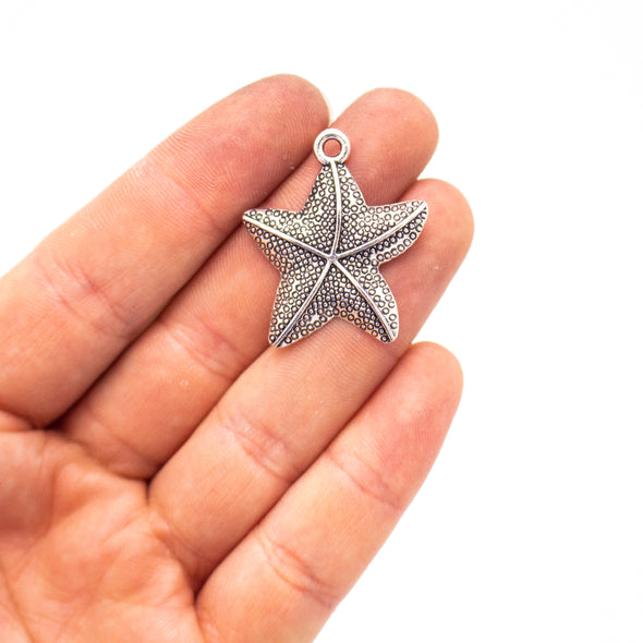 5 units 41x50mm Pendant antique silver Star Fish jewelry pendant Jewelry Findings & Components D-3-423