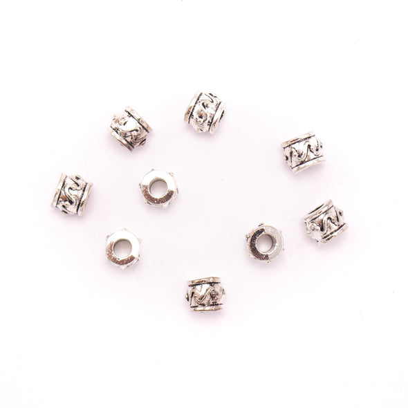 20PCS For 5mm leather antique silver zamak 5mm round beads Jewelry supply Findings Components- D-5-5-156