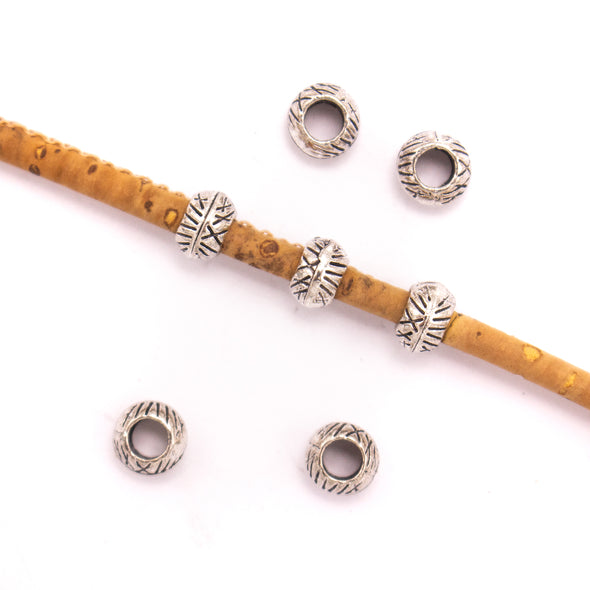 20Pcs for 3mm round leather Antique Silver small beads jewelry supplies jewelry finding D-5-3-134