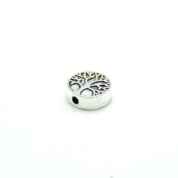 30 Pcs for 1mm round leather Antique Silver life of tree beads jewelry supplies jewelry finding D-5-3-80