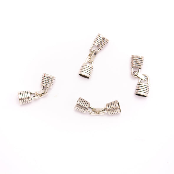 10 Units For 5mm leather clasp, for 5mm round antique silver snap clasp jewelry finding D-6-234