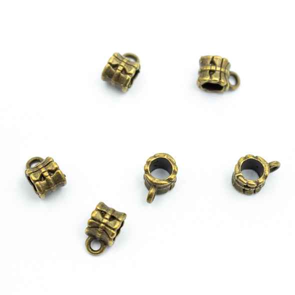 20pcs 5mm round bronze barrel jewelry finding supplies D-5-5-89
