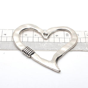 5units antique sliver big love heart necklace pendent zamak jewelry finding D-3-96