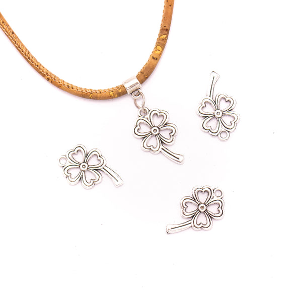 20 units 14x24mm Pendant antique silver Four leaf Clover jewelry pendant Jewelry Findings & Components D-3-408