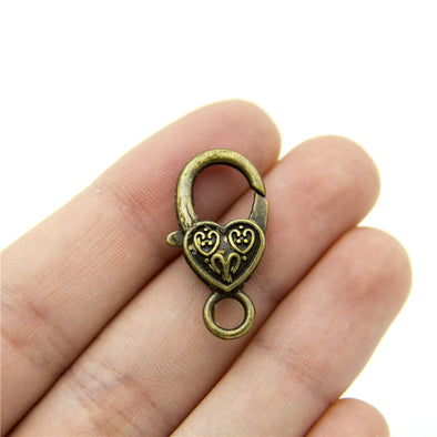 10pcs 13x26MM bronze Lobster Clasps silver Clasps Jewelry Clasps Necklace Clasps Bracelet Clasps silver Findings D-6-197