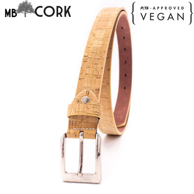 Cork women belt vegan belt mens handmade natural leather belt L-033-C