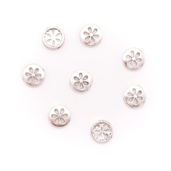 10Pcs For 10mm flat leather,Antique silver round bracelet accessories jewelry supplies jewelry finding D-1-10-251