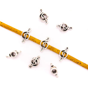 20PCS For 5mm leather antique silver zamak 5mm round Music symbol beads Jewelry supply Findings Components- D-5-5-151
