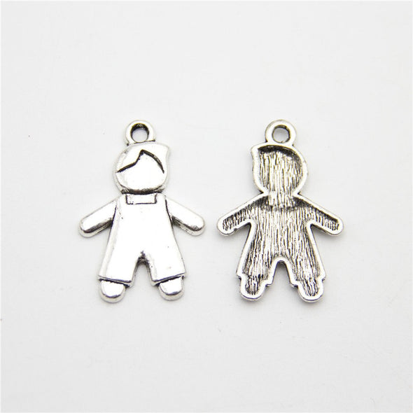 10 units antique sliver boy son Necklace pendant charms jewelry finding suppliers D-3-235