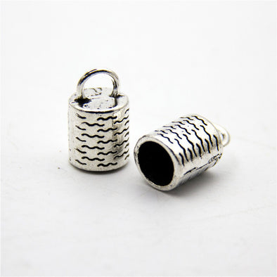 10pcs big hole for 8mm end cap , Antique sliver jewelry supplies jewelry finding D-6-163