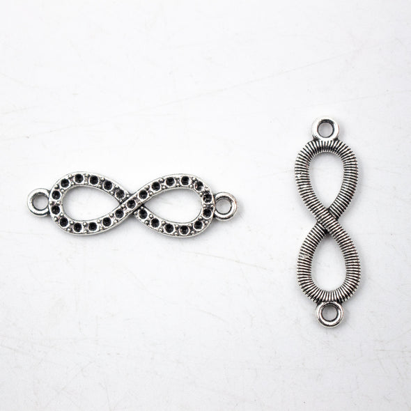 20 units antique silver infinite pendant for bracelet charms jewelry finding suppliers D-3-373-A