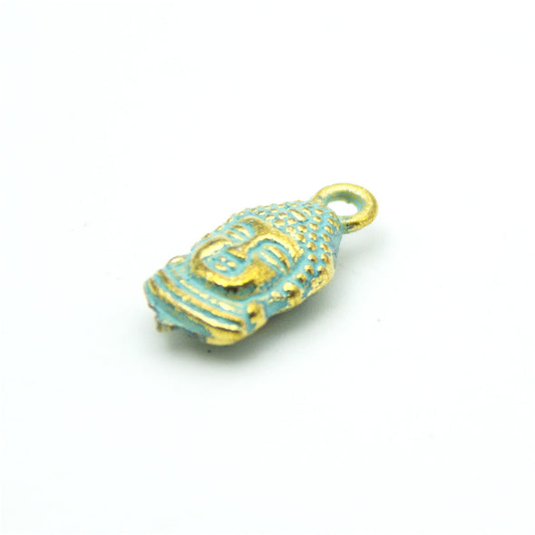 10 units mykonos findings Buddha head charm mykonos charms finding jewelry finding suppliers D-3-281