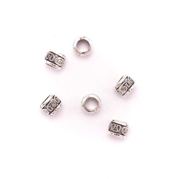 30PCS For 5mm leather antique silver zamak 5mm round beads Jewelry supply Findings Components- D-5-5-157