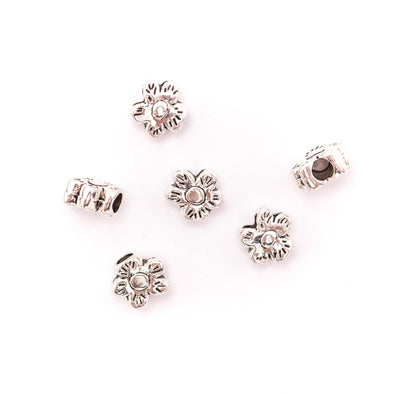 20Pcs for 3mm round silver flower findings bracelet finding jewelry supplies jewelry finding D-5-3-127