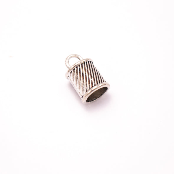 10 Units For 9mm leather clasp, for 9mm round antique silver snap clasp jewelry finding D-6-235