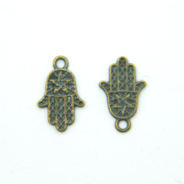 40 units mykonos findings fatima hand charm mykonos charms finding jewelry finding suppliers D-3-283