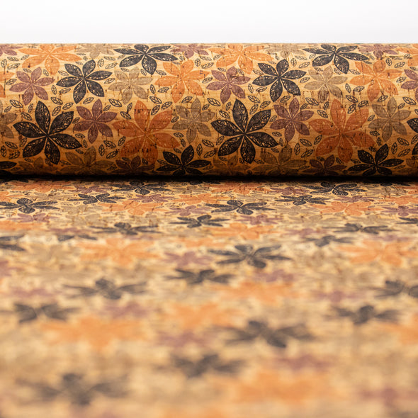 Natural cork patterned orange Geometry designs COF-204