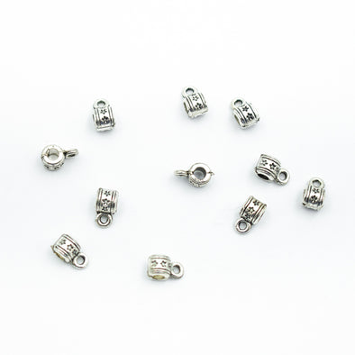 40pcs silver zamak slider for 2mm cord D-5-3-57