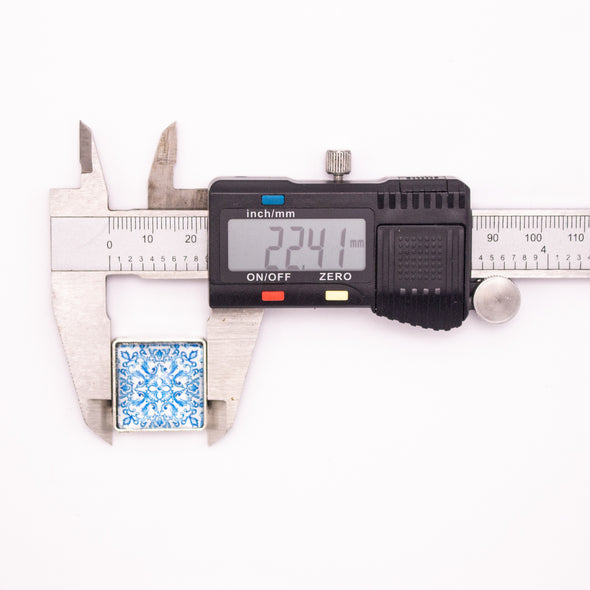10units For 10mm flat cord slider with square Portuguese tiles for bracelet finding(22mm*22mm) D-1-10-227