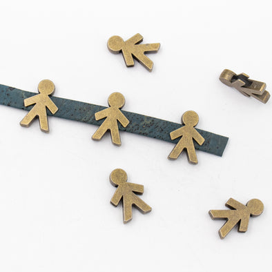 10 Pcs for 10mm flat leather,Antique Brass boy bracelet jewelry supplies jewelry finding D-1-10-198