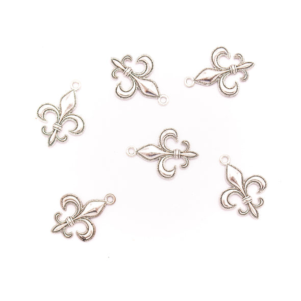 20 units 20x28mm Pendant antique silver Lily Flower jewelry pendant Jewelry Findings & Components D-3-427
