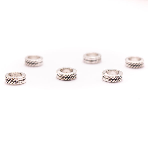 20PCS For 5mm leather antique silver zamak 5mm round beads Jewelry supply Findings Components- D-5-5-183