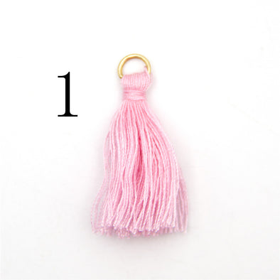 HOT! Promotion products--20 pcs Small Tassel with gold ring Tassels,D-3-299